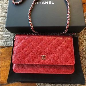 Red Chanel Flap Bag